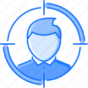 auditory, head, headhunter, job, target, user
