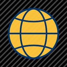 address, earth, globe, map, planet, site, web icon