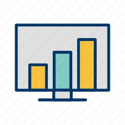 business, data, graph, lcd, rank, screen, stats icon