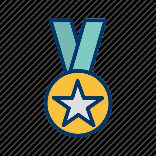 Award, gold medal, star medal icon - Download on Iconfinder