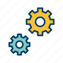 configure, cog wheel, setting