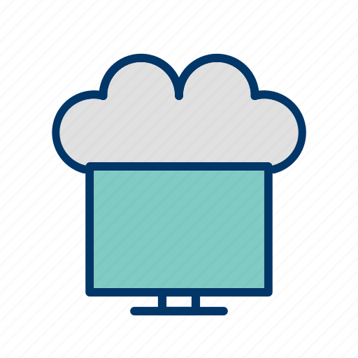 cloud, connected, connected to cloud, network icon