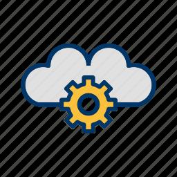 cloud, data, drive, network, server, settings, upload icon