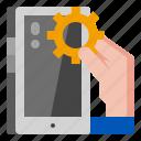 development, device, optimization, technology icon