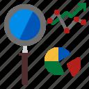 analysis, business, chart, marketing icon