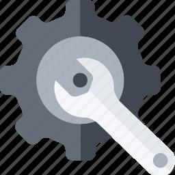 cogwhell, engineering, gear, machine, mechanic, mechanism, setting icon