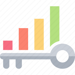 chart, data, graph, growth, keyword, ranking, search icon