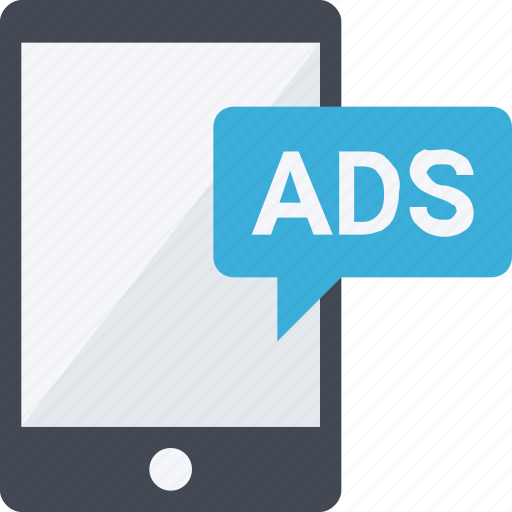ads, advertising, banner, marketing, mobile, phone icon