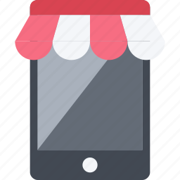 buy, market, mobile, phone, retail, sell, shopping, store icon
