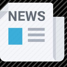 daily, headline, journalism, media, news, newspaper, press, tabloid icon