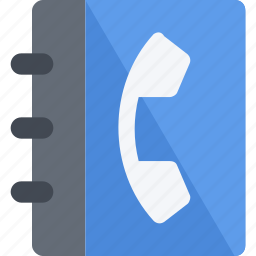 address, books, data, directory, list, number, phonebook, telephone icon