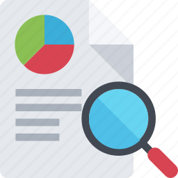 accountant, business, financial, graph, paper, report, reporting icon