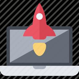 business, enterpreneur, launch, project, rocket, start, up icon