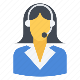 agent, customer, operator, service, support, telemarketing, woman icon
