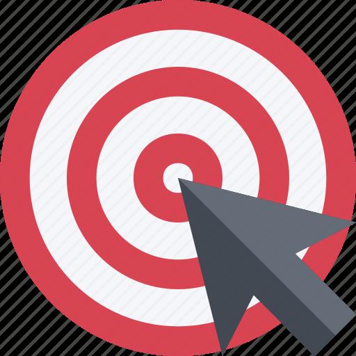accuracy, aim, arrow, arrowgoal, bullseye, hit, success, target icon