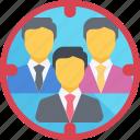 audience, focus, group, market, target, team