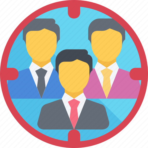 Audience, focus, group, market, target, team icon - Download on Iconfinder