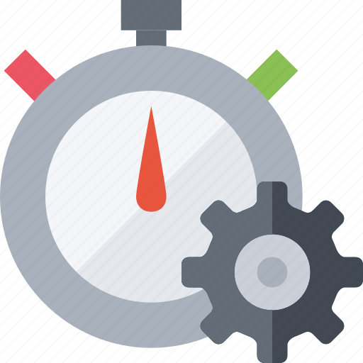 Clock, gear, reminder, time, timer, watch icon - Download on Iconfinder