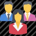 boss, businesswoman, executive, leader, leadership, professional, team, woman icon