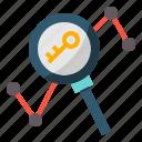 analysis, chart, keyword, search, seo