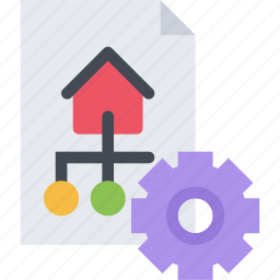 business, marketing, optimization, seo, site, startup, structure icon