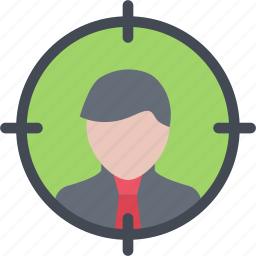 auditory, business, marketing, seo, startup, target icon