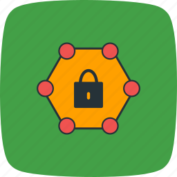 locked, network, password protected, protected icon