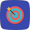 audience, dart, market, success, target icon