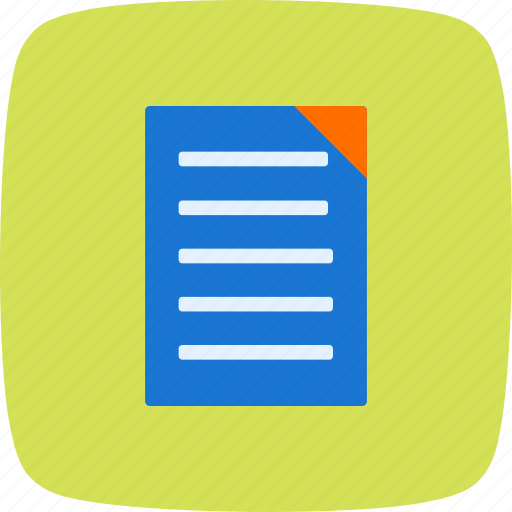 document, page, report icon