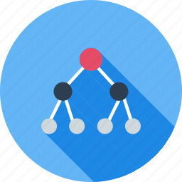 chain, connected, flow chart, group, hierarchy, nodes, structure icon