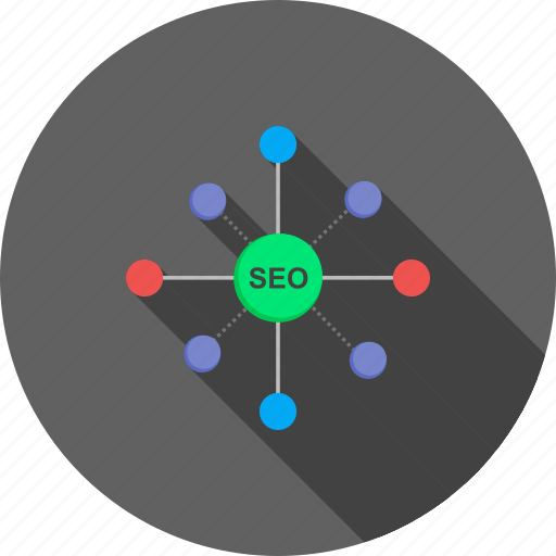 connected, marketing, network, promotion, search, social media, web optimization icon
