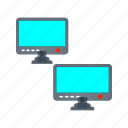 business-pc, lcd, resolution, screen, screen resolution simulator, simula, television icon