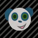 animals, antivirus, avatar, expression, face, panda, sea icon