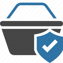 basket, buy, cart, protection, secure, shield, transaction icon
