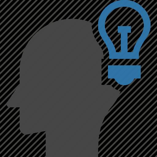 brain, bulb, idea, innovation, inspiration, invention, light icon