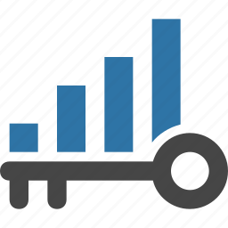 chart, data, graph, growth, keyword, ranking, search icon