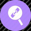 communication, internet, link, link-tracker, search-link, seo, tracker, web icon