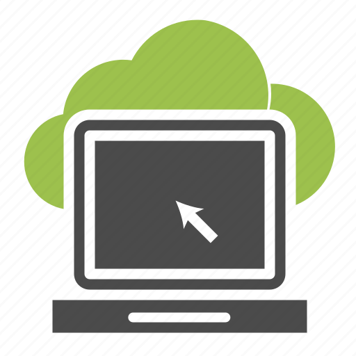 arrow, browser, computer, icloud, information, laptop, online icon