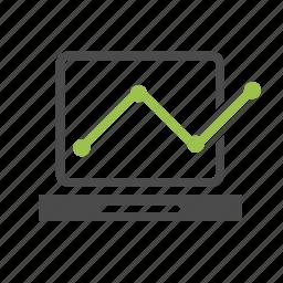 business, computer, infographic, laptop, optimization, progress, seo, statistics icon
