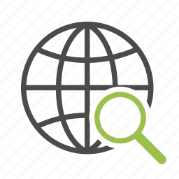 connection, engine, globe, magnifying glass, network, search, seo, worldwide icon