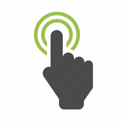 click, finger, hand, marketing, seo, technology, touch, touchscreen icon