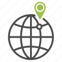 globe, local, location, navigation, pin, planet, seo icon