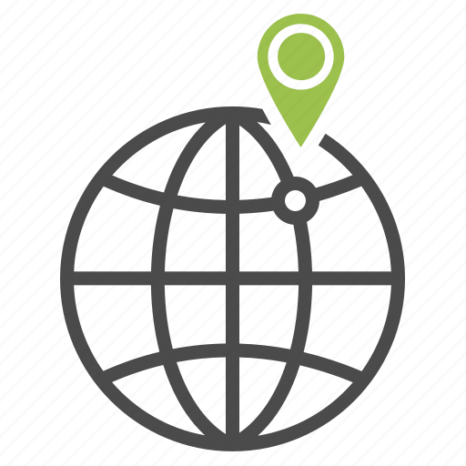 globe, local, location, navigation, pin, planet, seo icon