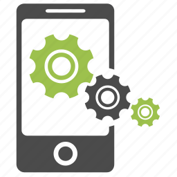 gear, mobile, optimization, phone, preferences, seo, tools icon