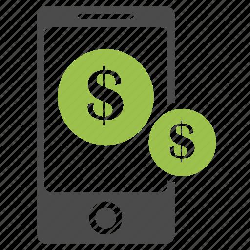 banking, business, dollar, ecommerce, money, online, phone, seo icon