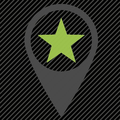 favorite, location, pin, places, premium, seo, star icon