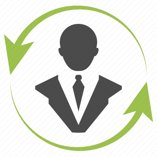 arrows, business, businessman, consulting, marketing, seo, user icon