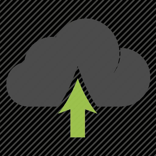 arrow, database, icloud, information, marketing, seo, upload icon