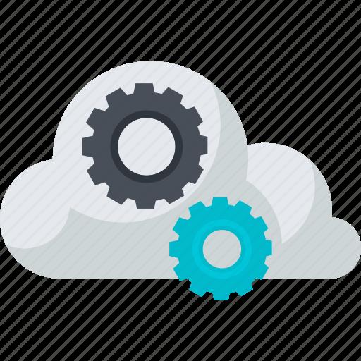 cloud, computing, flat design, internet, online, service, storage icon