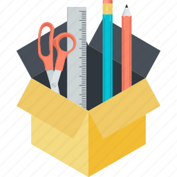 creative, design, development, flat design, package, tool icon